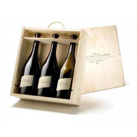 WOODEN BOX - Domaine Jean-René Germanier 75 cl.