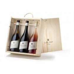 WOODEN BOX - Jean-René Germanier « Classiques AOC Valais » 75 cl.
